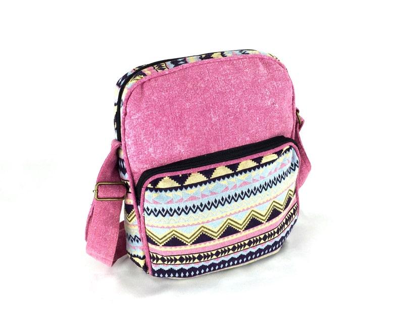 ad648f484877 Aztec Messenger bag Girls Book Bag Pink color Cute School