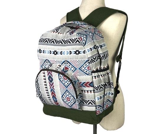 "Water Bottle Holder South West Native Design Women/'s 16/"" Canvas Backpack Pink"