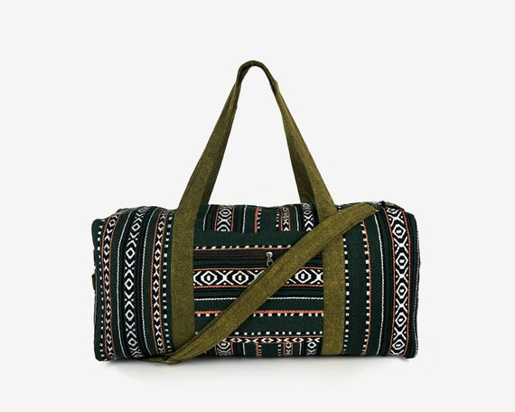 Hippie Weekender bag for Men   Women Aztec Overnight bag  7d3e57194b6fa