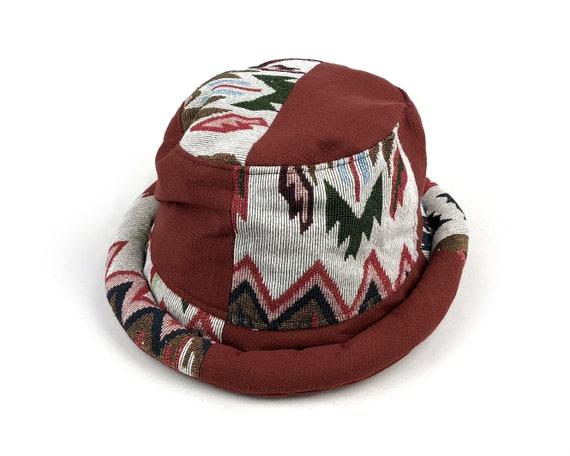 Roll brim Bucket Hat for Women Men Vintage Tribal Fabric  a6198df2d60a