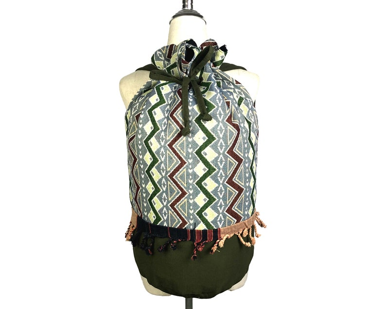 Cute Purse Backpack Tribal Aztec Sport gym bag Adventure Weekender Bag Boho Beach Barrel Bag Hippie Festival bag Handmade duffle bag