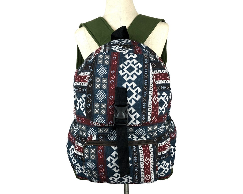 Teen school backpack Hipster Southwestern backpack Ikat folk Tribal backpack Hippie Backpack Native inspired Aztec Canvas Backpack
