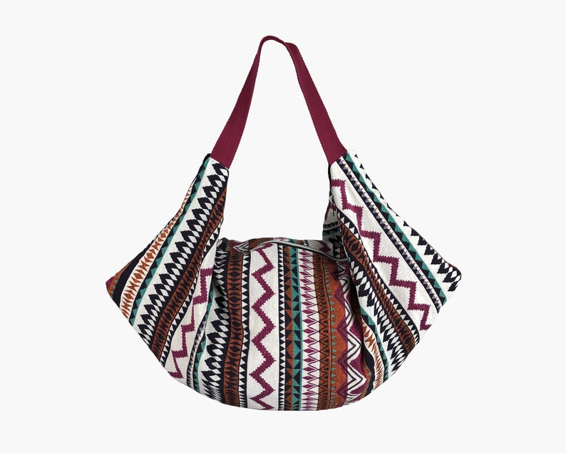 2f1c4c5748cd Ethnic Hobo Bag, Slouch Boho bag, Big Shoulder Bag Purse, Fabric Handbag,  Weekend bag, Beach bag, Sac d'épaule, cadeaux pour les femmes