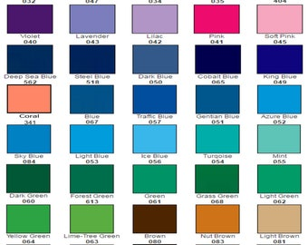 "10 sheets - 12"" x 12"" each - ORACLE 651 Craft Hobby Vinyl - 56 COLORS available. Includes Silver and Gold! Choose Any Colors"