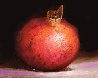 Original still life  Oil Painting, alla prima pomegranate by Jane Palmer Art contemporary Realism artwork