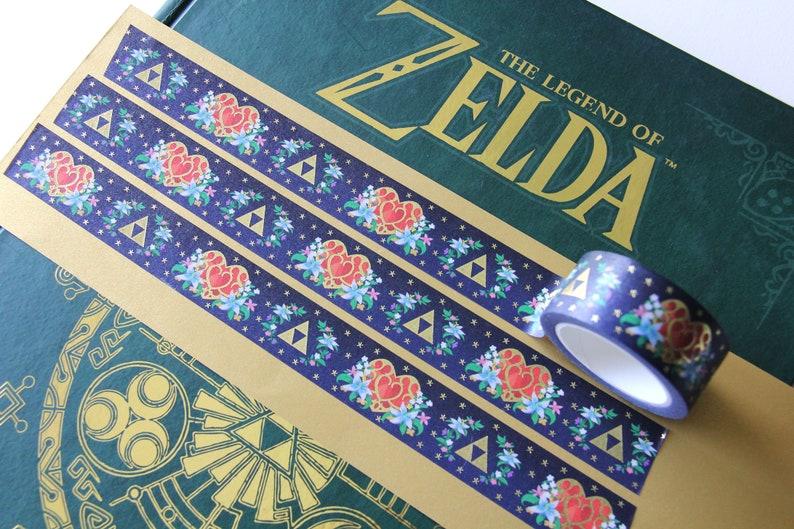 Legend of Zelda Triforce /& Heart Container Gold Foil Washi Tape