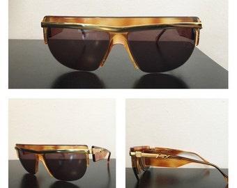 80s Versace Style Sunglasses - Vintage Sunglasses - 80s Metalflex Sunglasses