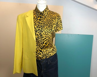 GIANNI VERSACE - 90s Gianni Versace Couture Silk Animal Print Shirt - Size  42 IT 5327715a6c7