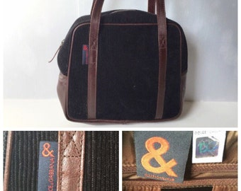 SALE -40% - DOLCE   GABBANA - 90s Dolce e Gabbana Cotton Velvet and Leather  Bag 7c51c92fb9