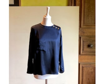4c9939b79242c2 CHANEL - 80s Chanel Silk Blouse - Size S/M