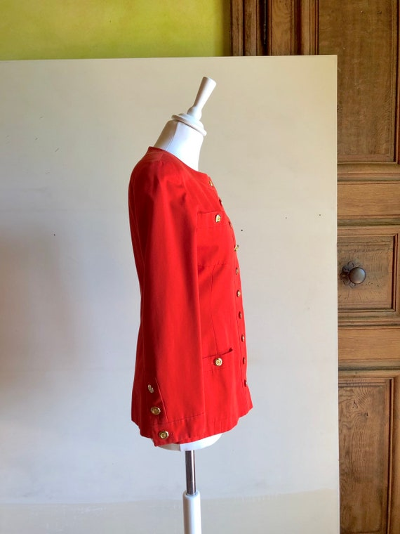 CHANEL - 90s Chanel Cotton Jacket - Size S - image 5