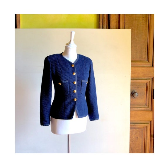 CHANEL - 90s Chanel Wool Jacket - Size S