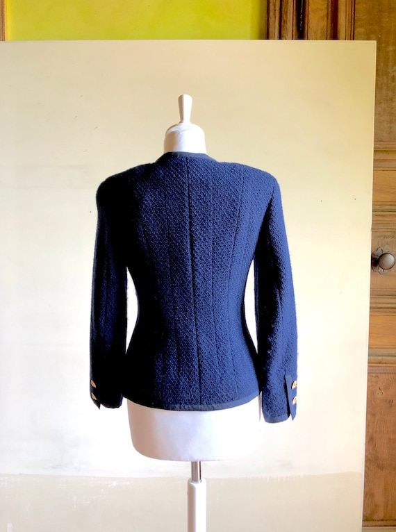 CHANEL - 90s Chanel Wool Jacket - Size S - image 6