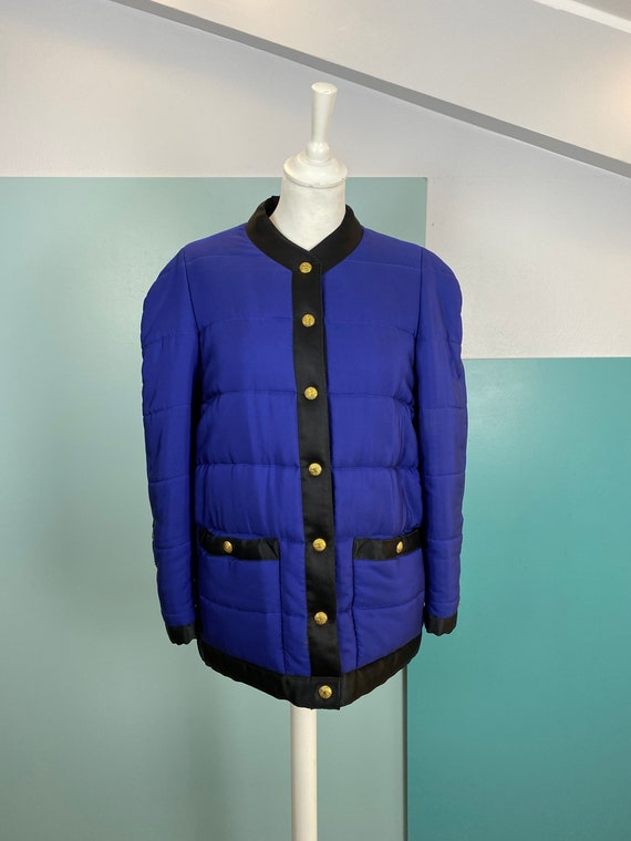 CHANEL - 90s Chanel Silk Bomber Jacket - Size M - image 2