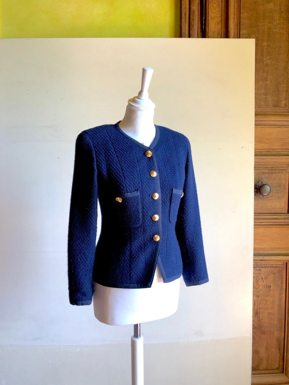 CHANEL - 90s Chanel Wool Jacket - Size S - image 4