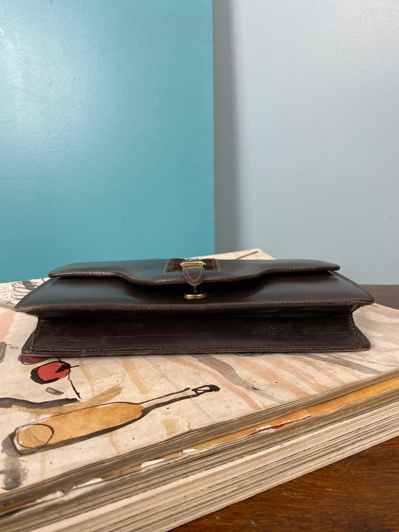 GUCCI - 60/70s Brown Leather Clutch - image 7