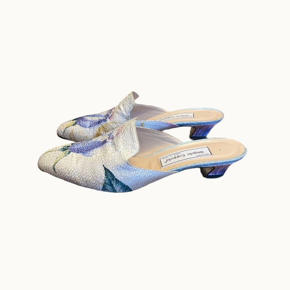 39 EU | 90s Silk and Leather Mules - image 1