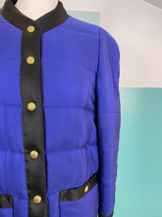 CHANEL - 90s Chanel Silk Bomber Jacket - Size M - image 3