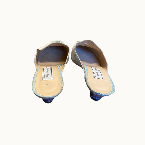 39 EU | 90s Silk and Leather Mules - image 5