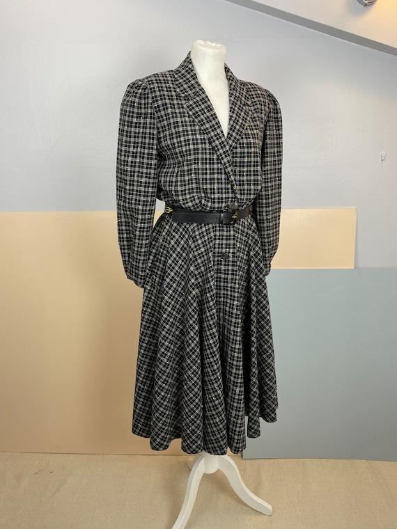 Size M   GUCCI - 70s Wool Shirtdress - image 3