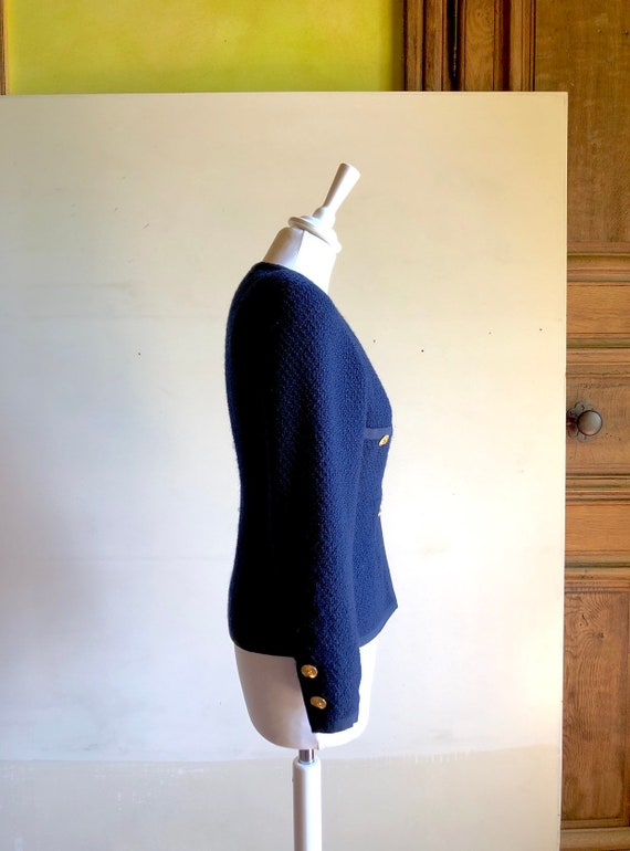 CHANEL - 90s Chanel Wool Jacket - Size S - image 5