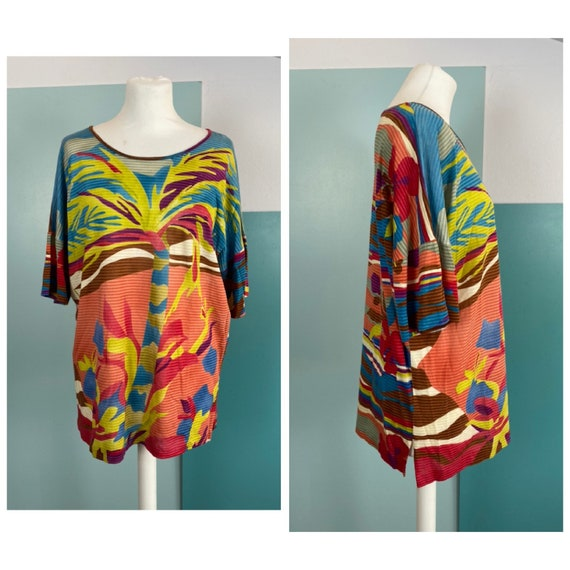 MISSONI - 80s Printed Cotton Blouse