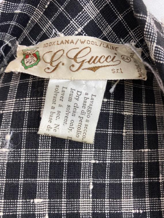 Size M   GUCCI - 70s Wool Shirtdress - image 9