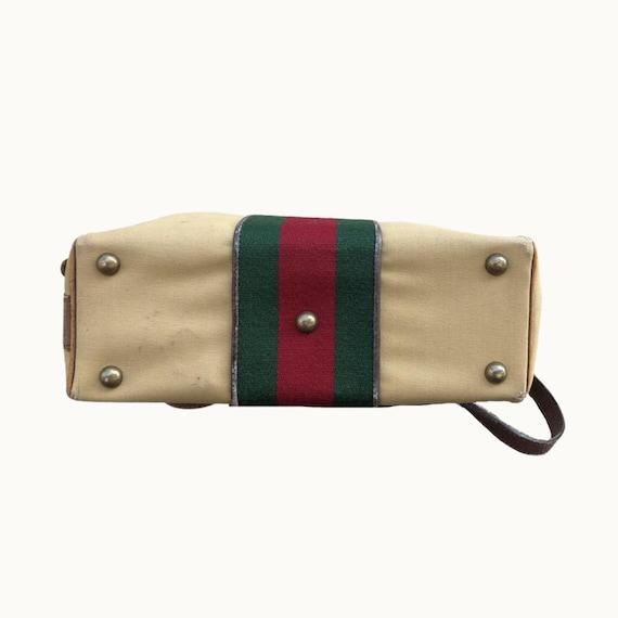 GUCCI - 70s Gucci Cavas and Boar Leather Briefcas… - image 6