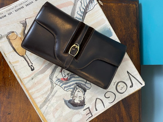 GUCCI - 60/70s Brown Leather Clutch - image 4
