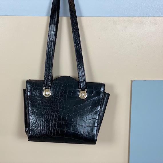 VERSACE - 90s Gianni Versace Black Leather Bag