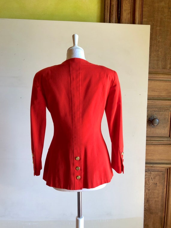 CHANEL - 90s Chanel Cotton Jacket - Size S - image 6