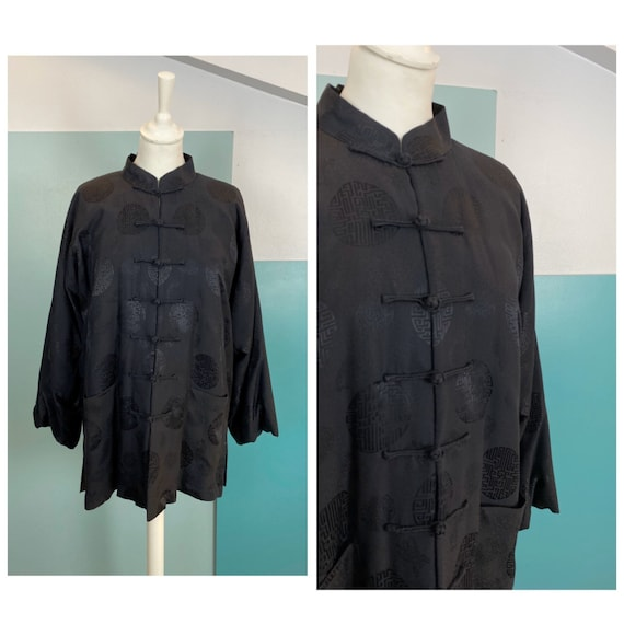 90s Chinese Padded Silk Jacket - Size M