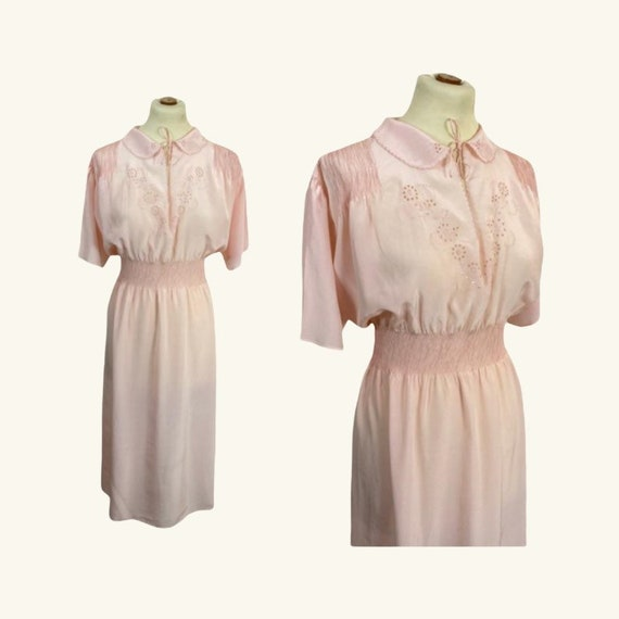 60s Silk Long Nightgown - Size L