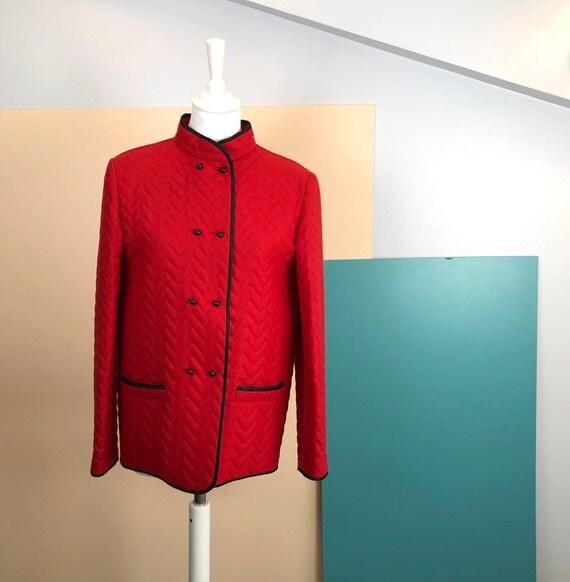 GUY LAROCHE - 80s Guy Laroche Red Wool Jacket - Si