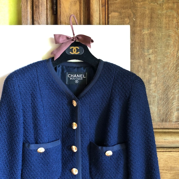 CHANEL - 90s Chanel Wool Jacket - Size S - image 9