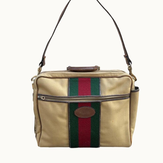 GUCCI - 70s Gucci Cavas and Boar Leather Briefcase
