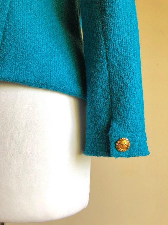 CHANEL - 90s Chanel Bouclè Wool Jacket - Size S - image 7
