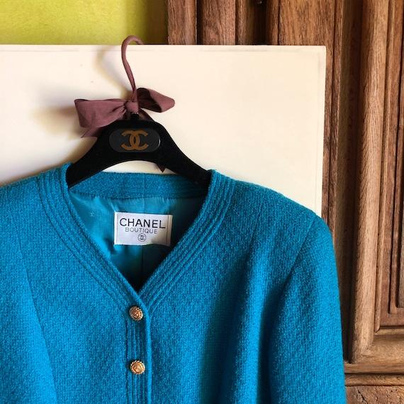 CHANEL - 90s Chanel Bouclè Wool Jacket - Size S - image 9