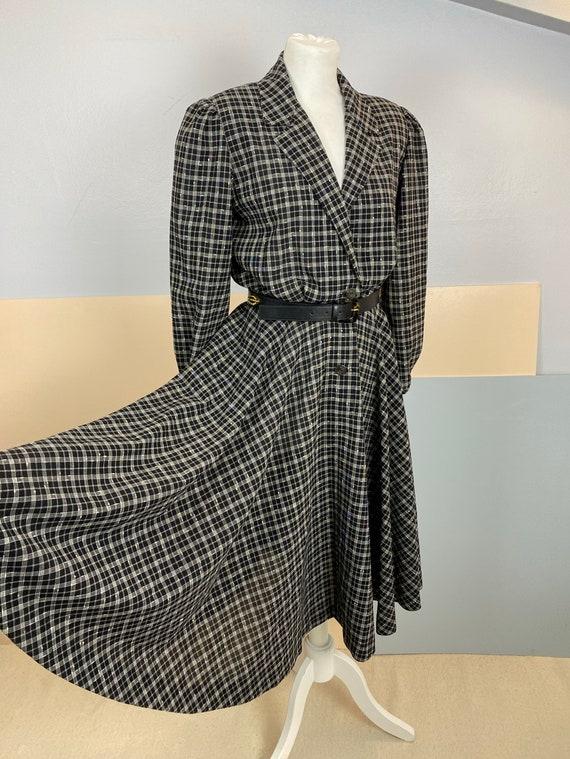 Size M   GUCCI - 70s Wool Shirtdress - image 4