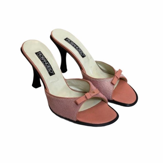 36 EU | 90s Leather High Heels Mules - image 2