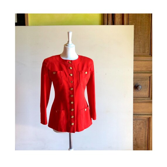 CHANEL - 90s Chanel Cotton Jacket - Size S