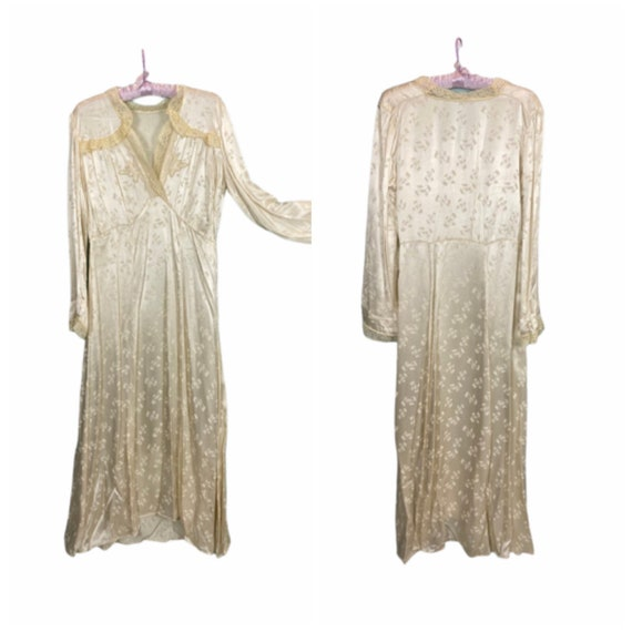 50s Acetate Long Nightgown- L