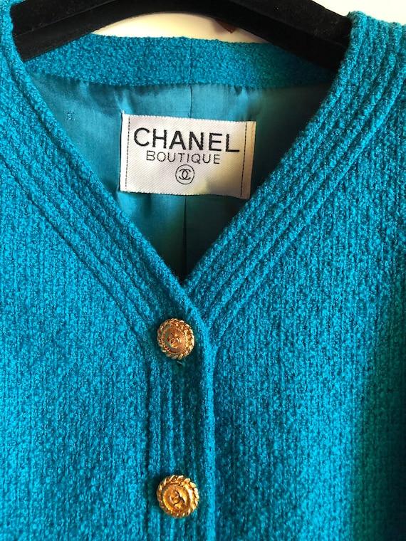 CHANEL - 90s Chanel Bouclè Wool Jacket - Size S - image 10