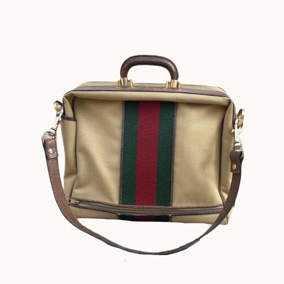 GUCCI - 70s Gucci Cavas and Boar Leather Briefcas… - image 5