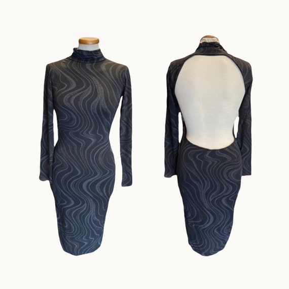 90s Backless Tight Dress - Size S