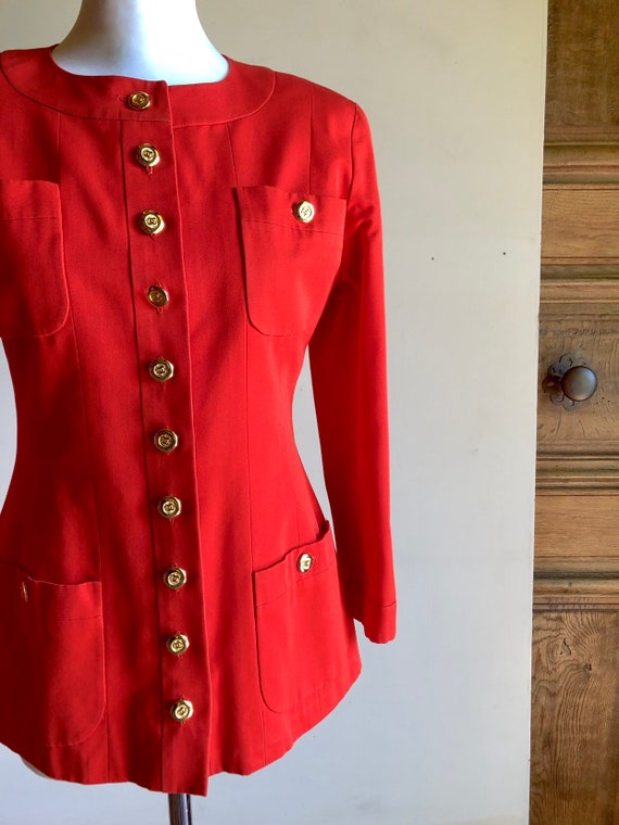 CHANEL - 90s Chanel Cotton Jacket - Size S - image 3