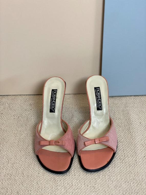 36 EU | 90s Leather High Heels Mules - image 3