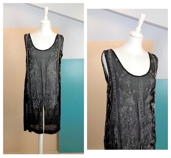 20's Silk and Beads Tailored Blouse - Size M