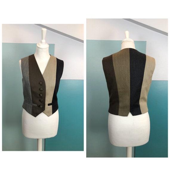 MOSCHINO - 90s Moschino Striped Wool Vest - Size S