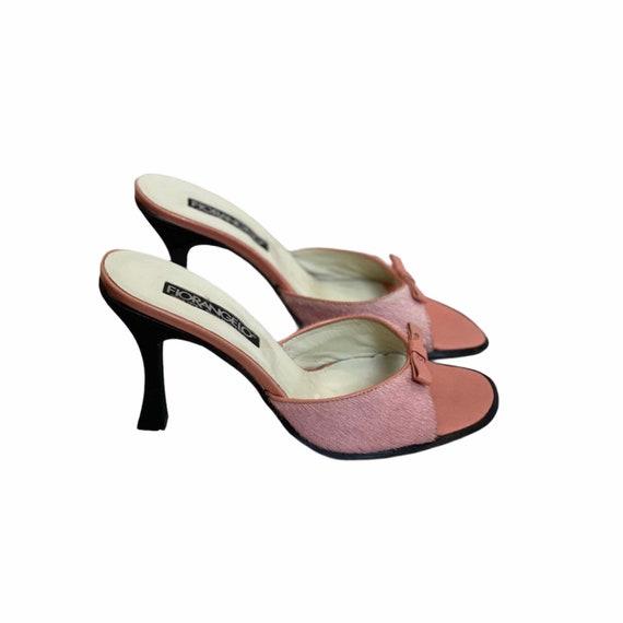 36 EU | 90s Leather High Heels Mules - image 1